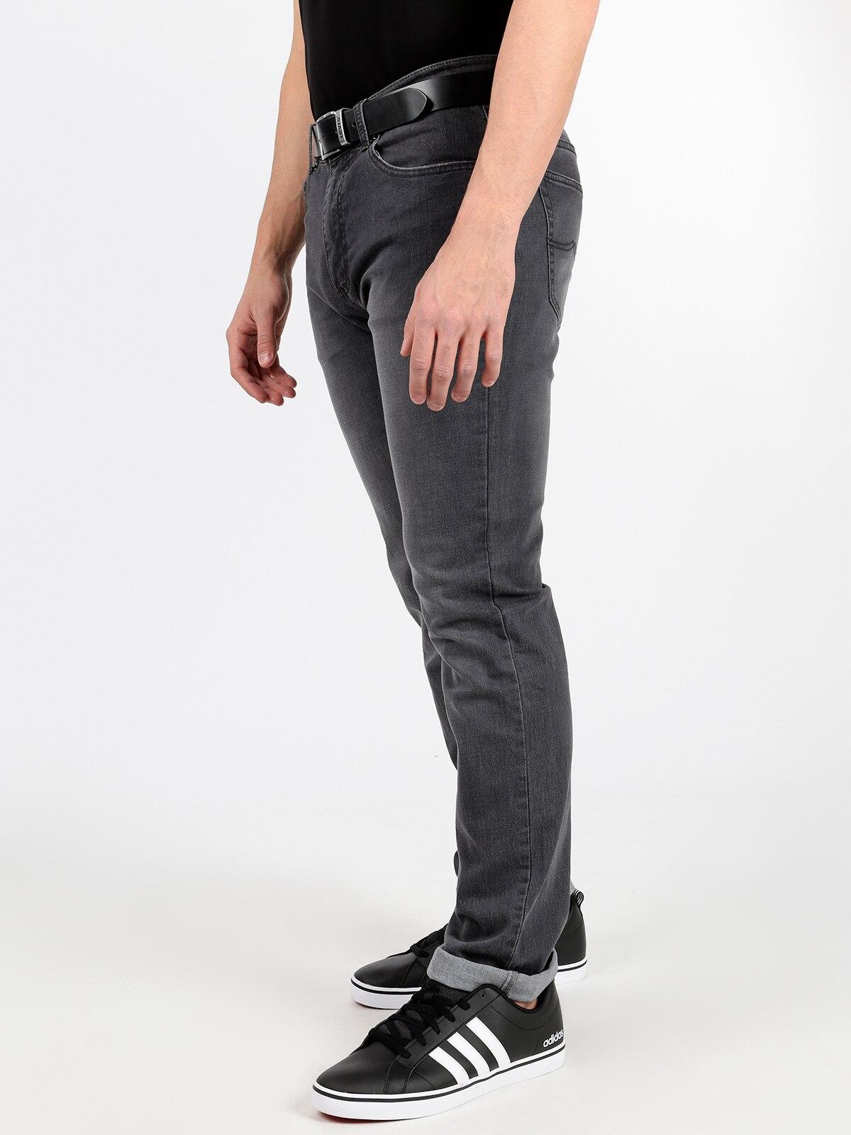 Gray Jeans Straight Leg