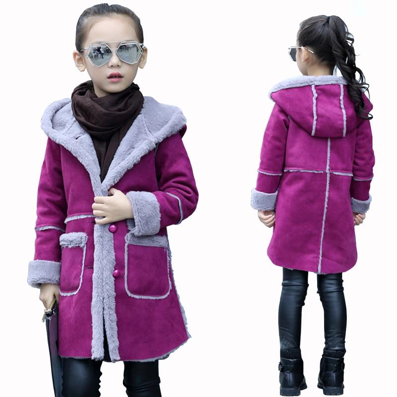 Lány téli kabát 2018 lányok velúr kabát lányok szarvasbőr - Gyermekruházat