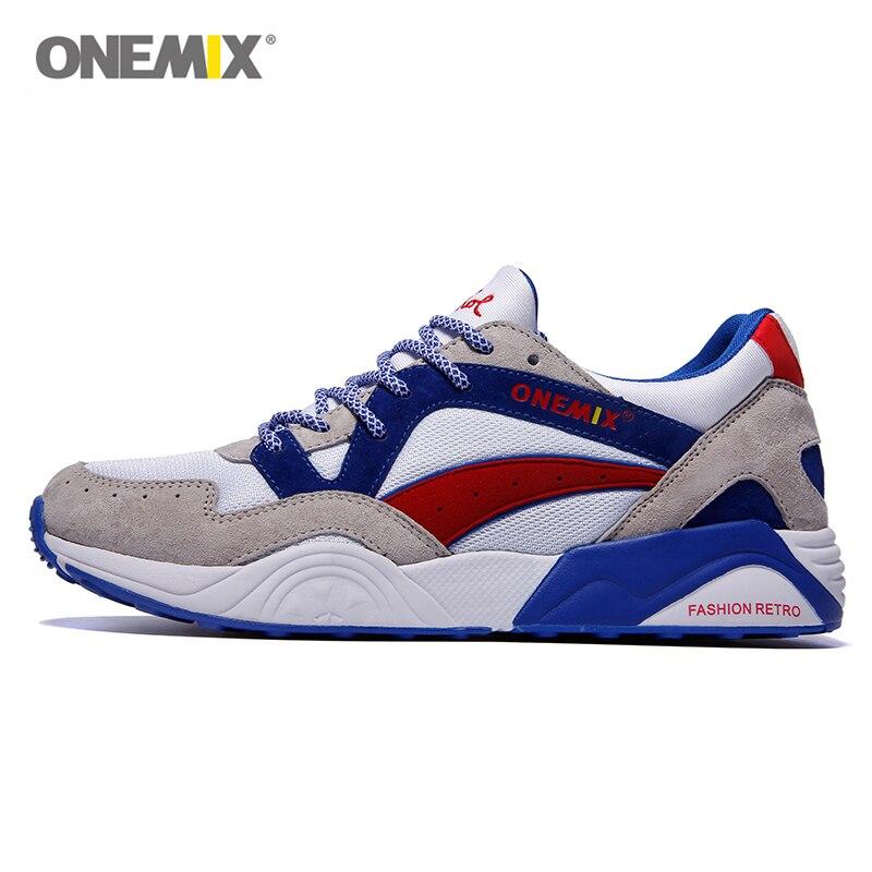 Onemix retro descuento athletic zapatos corrientes de los hombres para caminar l