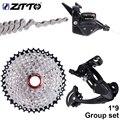 Fahrrad MTB 1X9 9 S Geschwindigkeit 40 T Kassette Shifter Schaltwerk Groupset für teile m370 m430 m590 DEORE einzelnen kurbel system