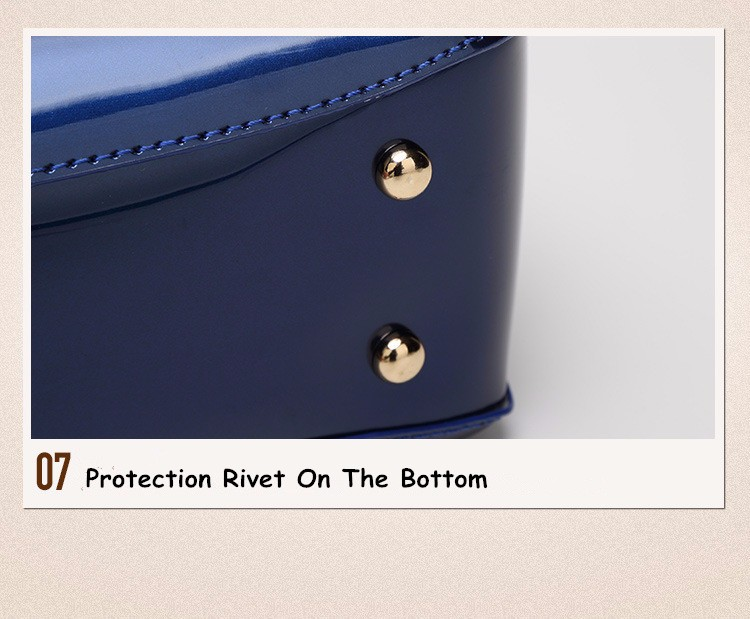 Promotion of new women's bags,Patent Leather Women Bag Ladies Cross Body Shoulder Bags Handbags Blue one size 41