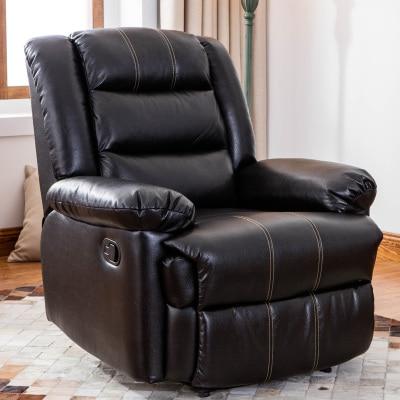Европейский первый класс кабина Диван офисный дом Многофункциональный один диван стул лежа стул - Цвет: black