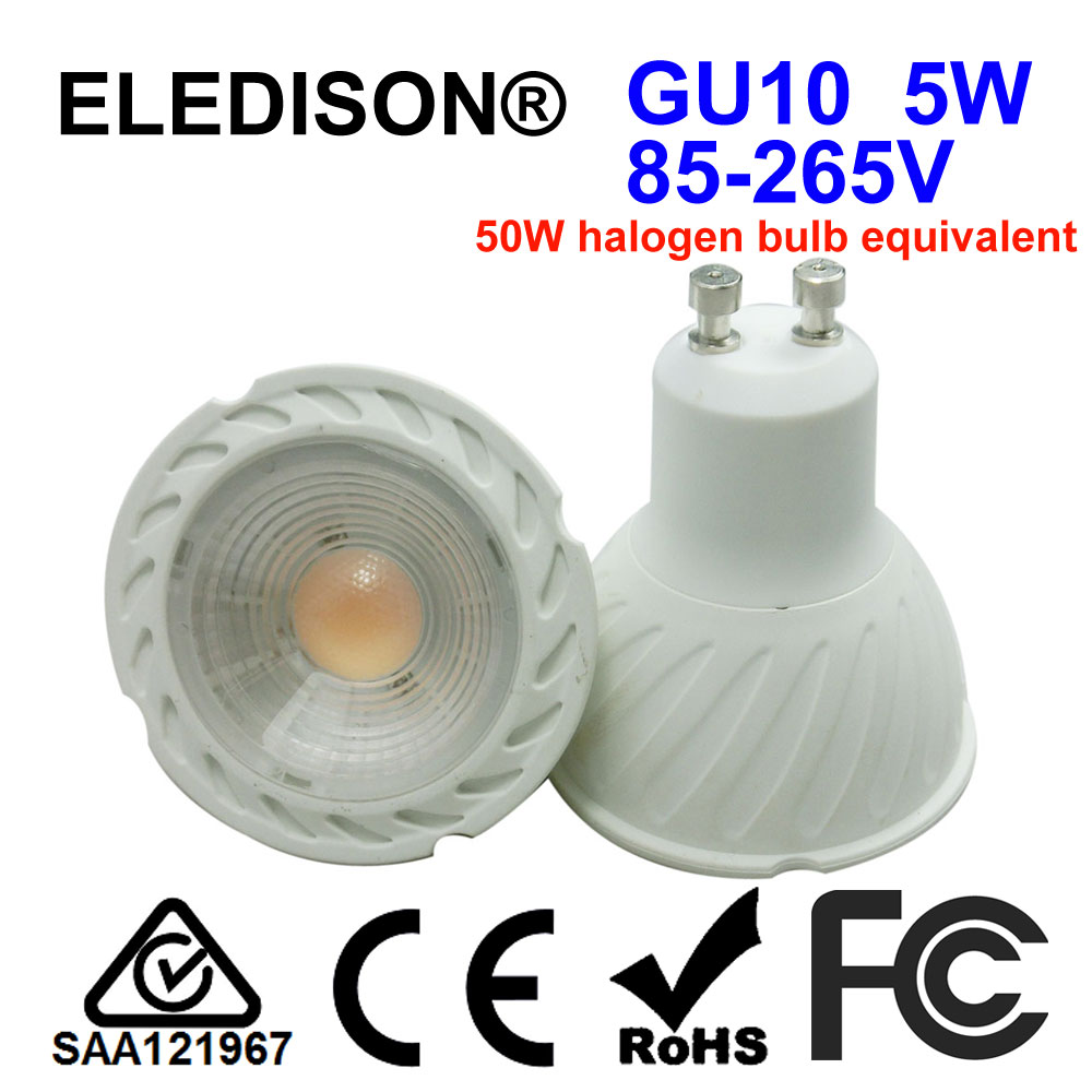 LED GU10 Spot Light Bulb 5W PAR16 =50W Halogen 2700K 4000K 6000K 85-265V AC Hotel Restaurant Household Track Ceiling Lighting