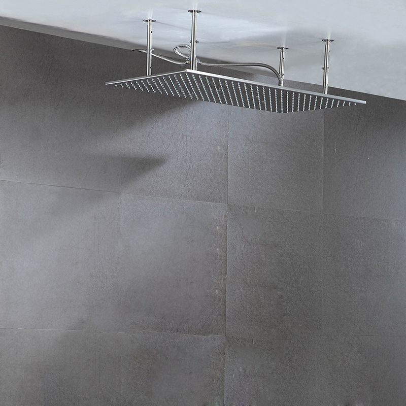 60cm*80cm Stainless Steel 304 Shower 32 inch Rainfall Big Shower Heads Led Rain Shower With Shower Arms Bathroom Showers