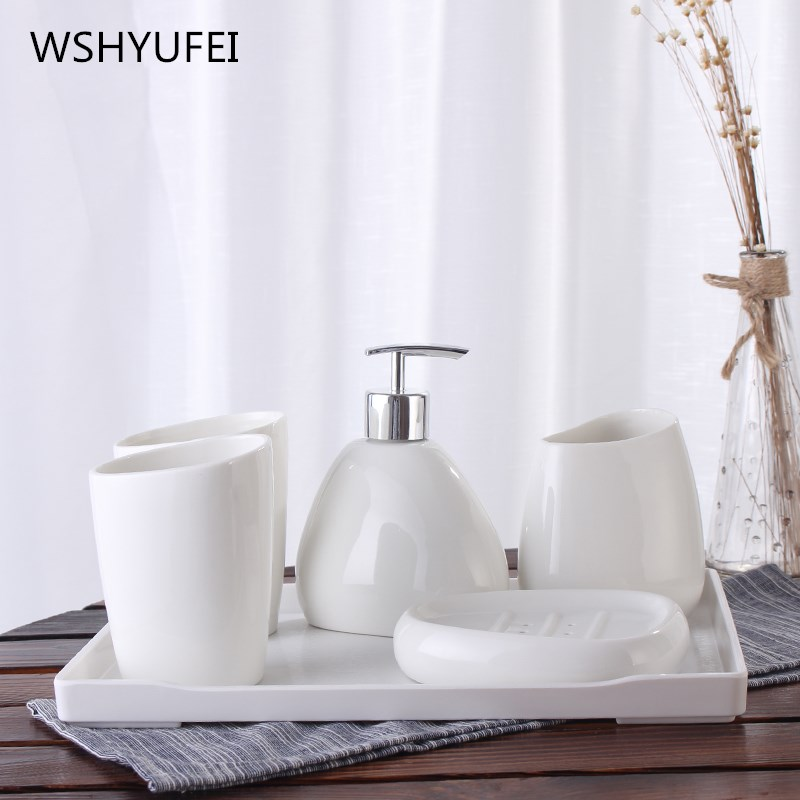 Quality life bathroom accessories five sets of bathroom for Quality bathroom decor