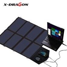 X-DRAGON Portable Solar Panel Charger 5V 12V 18V for iPhone iPad Macbook Samsung HTC LG HP Lenovo Acer Portable Generator.
