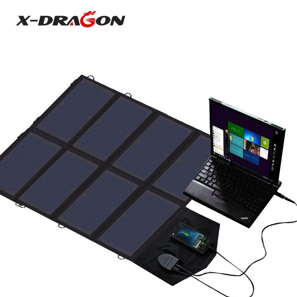 X-DRAGON panneau solaire portable Chargeur 40 18 V 12 v panneau solaire pliable Solaire Batterie chargeur pour iphone Ordinateur Portable Téléphones Portables