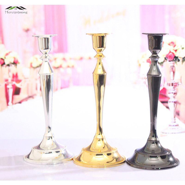 10PCS/LOT Metal Silver/Gold Plated Candle Holders 1-Arms Stand Zinc Alloy & 10PCS/LOT Metal Silver/Gold Plated Candle Holders 1 Arms Stand Zinc ...