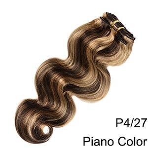 Doreen заколки для волос в полный набор головы 160 г 200 г искусственные волосы одинаковой направленности настоящие натуральные человеческие волосы для наращивания зажим для волос - Color: P4/27