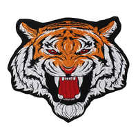 10pieces Large Tiger Head Fabric Patches Embroidery Applique Repair Iron on Badges Clothes Decorated Sewing Accessories TH987