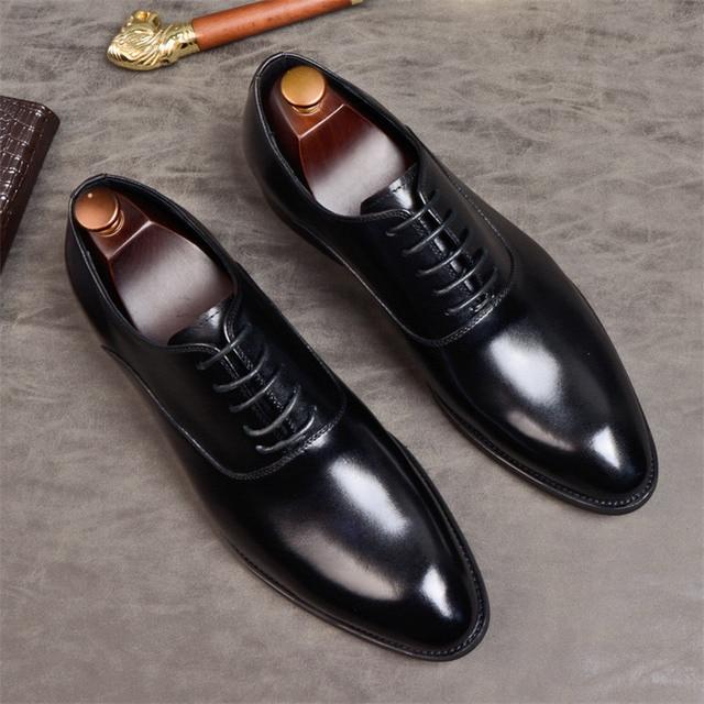 Phenkang Mens Formal Shoes Genuine