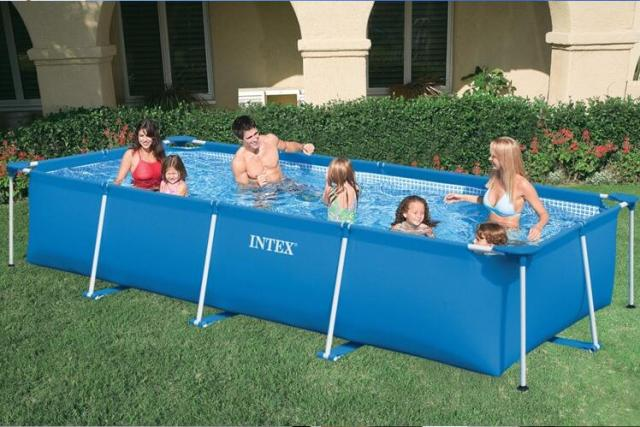 Intex 28272 58981 Rectangular Frame Swimming Pool Pipe Rack Pond Large Swimming Pool Villa Size