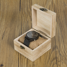 BOBO BIRD WB12 Men's Asymmetric Design Ebony Wooden Watches with Soft Leather Band with Gift Box as Gift