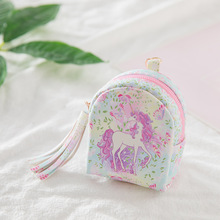 Monederos Para Mujer Monedas Monedero 3d Cartoon Cute Little Kids Women's Purse Coin Wallet Money Bag Unicorn Pouch Key Holder стоимость