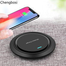 Round Wireless Charger for Samsung Galaxy S8 9 Note 9 8 USB Qi Wireless Charger for IPhone XS Max X 8 Plus Wireless Charging Pad стоимость