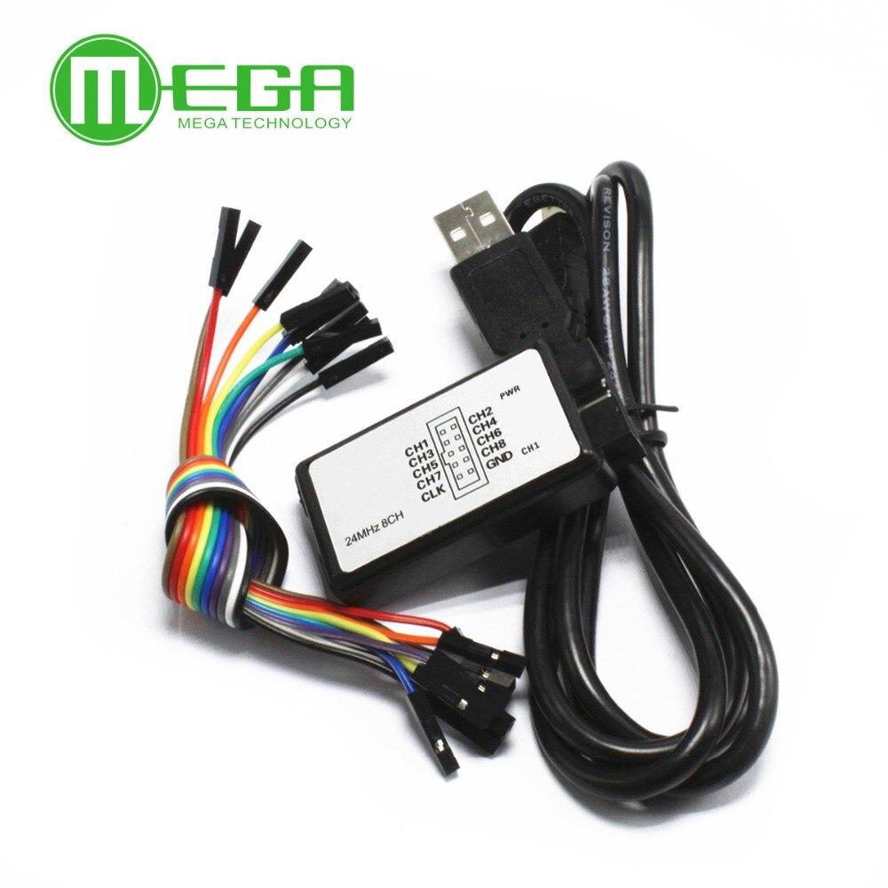 CF 5 set/lote nueva llegada USB Logic analyse 24 m 8CH, MCU ARM DSP FPGA herramienta de depuración
