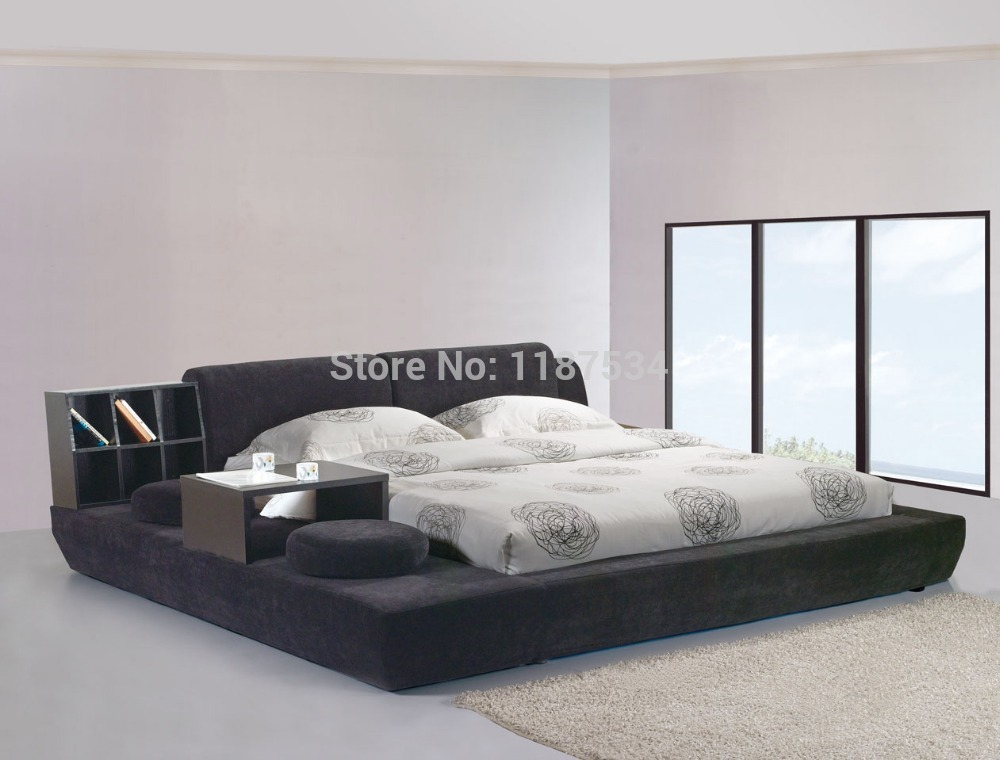 modern bedroom furniture luxury bedroom furniture bed frame king size bed fabric double soft bed E603