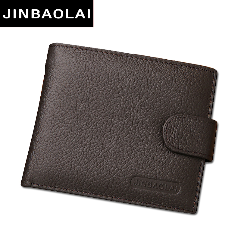 fashion men wallets famous brand genuine leather wallet hasp design wallets with coin pocket purse card holder for men carteira