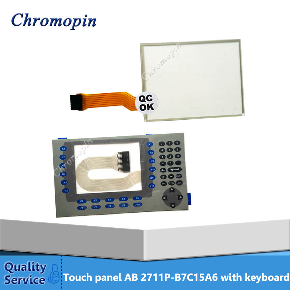 Touch screen panel for 2711P-B7C15A6 2711P-B7C15A7 2711P-B7C6D6 2711P-B7C6D7 PanelView Plus 700 with protective film цена