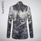 VAGUELETTE Italy Style Print Men Blazer Fashion Party Wear Pattern Jacket Coat Single Button Stage Clothing For Men M 4XL - 2