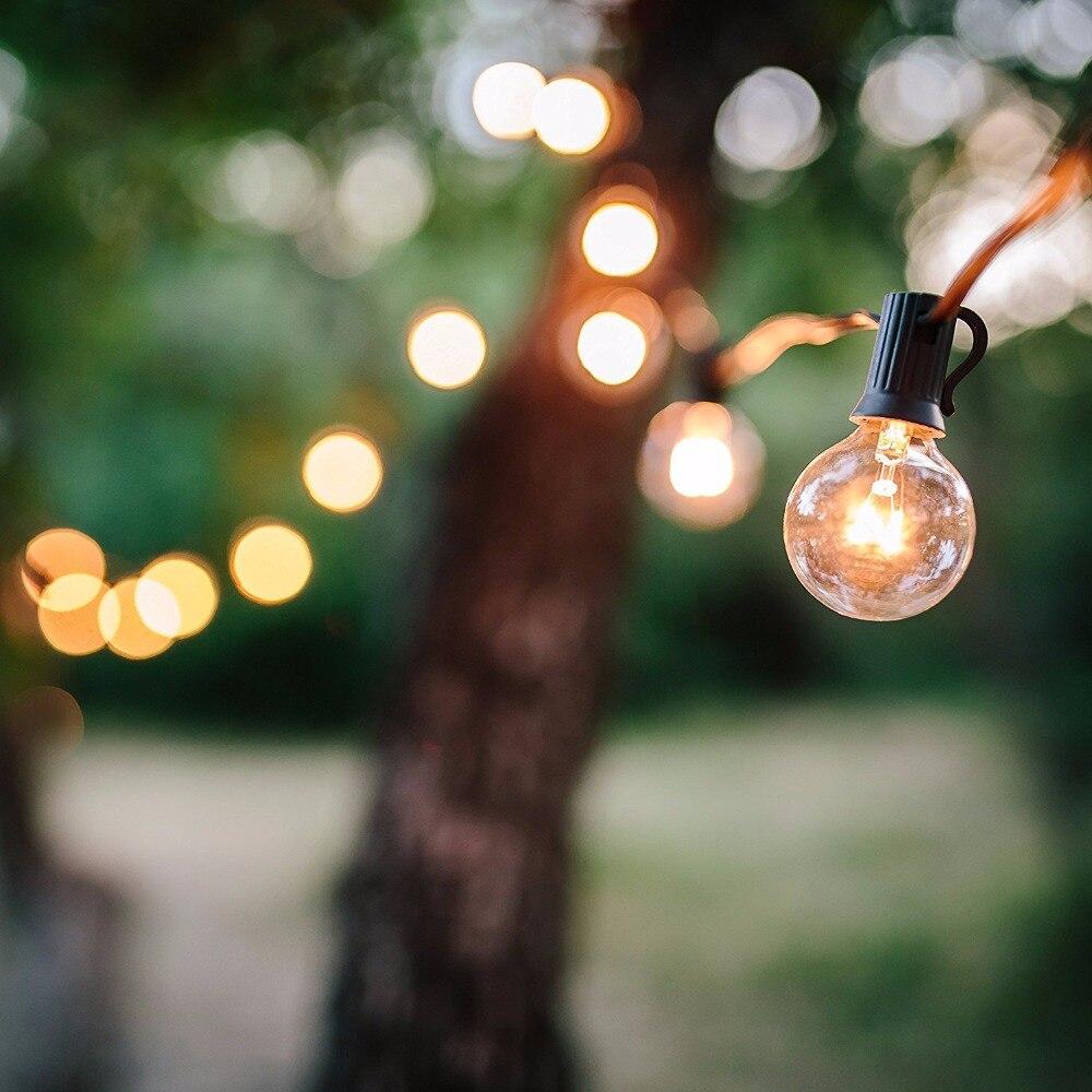 25ft g40 globe bulb string lights with 25 clear ball vintage bulb if solutioingenieria Choice Image
