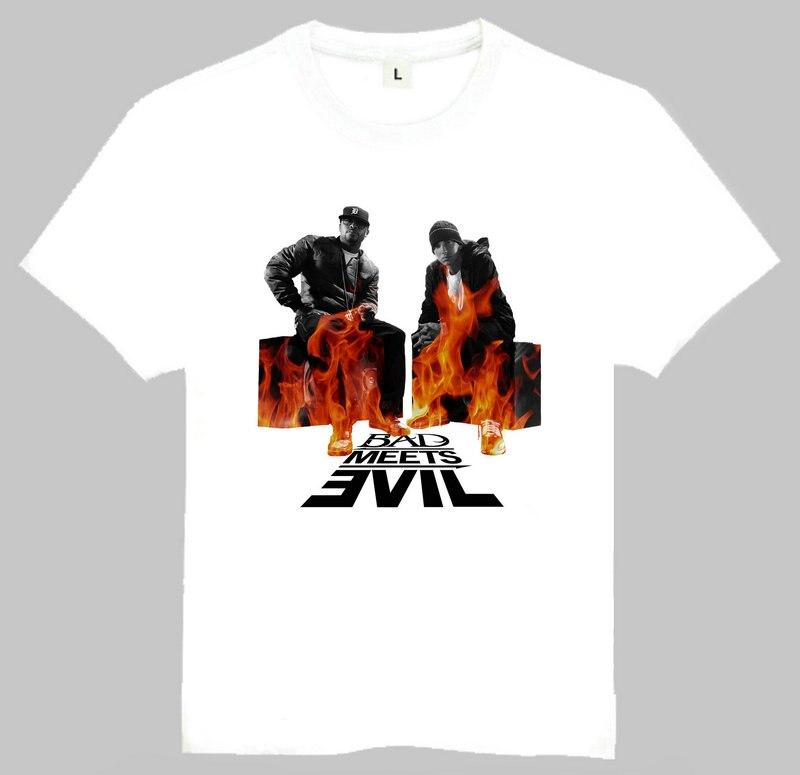 ea9a428eba2 Band Bad Meets Evil T-Shirt Short Sleeve White Color Teenage Bad Meets Evil Top  Tees tshirt For Men Women