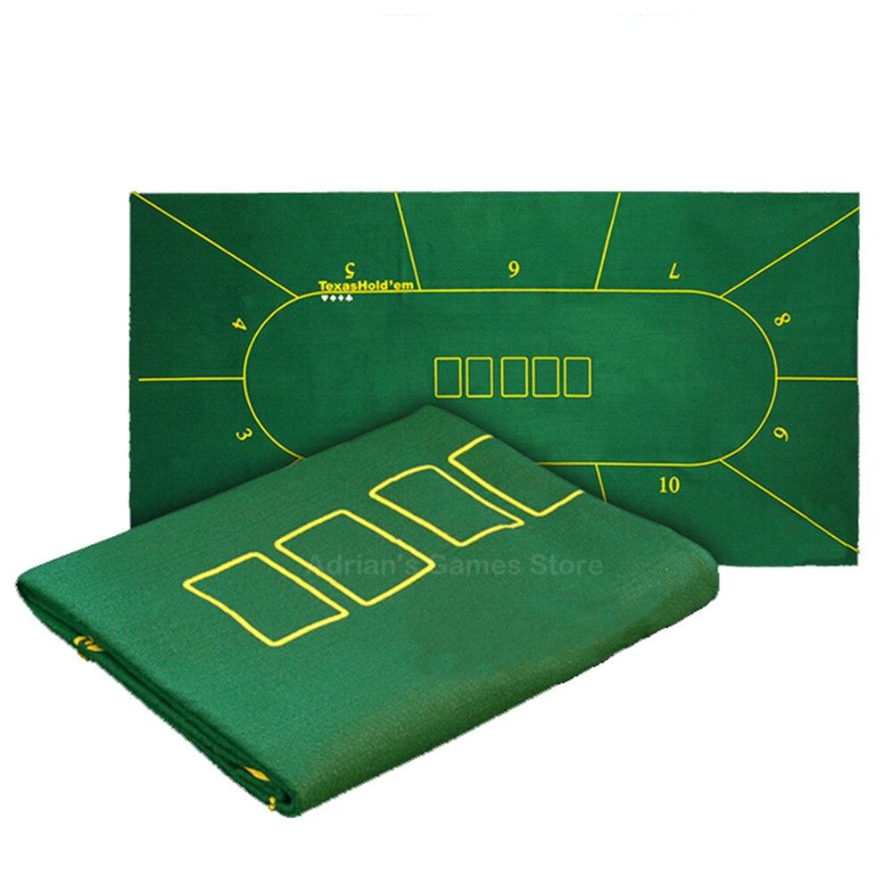 180*90 cm Tissu Table De Poker Texas Hold'em Poker Mises En Page Nappe Feutre 10 Joueurs Poker Tapis/Tapis Poker
