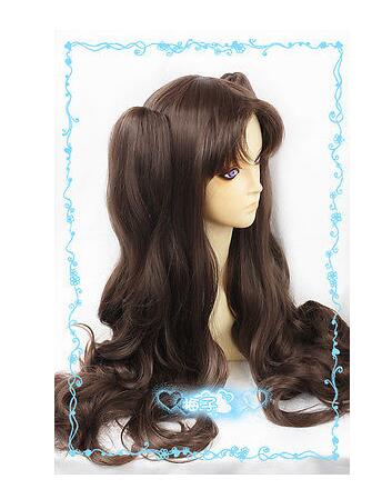 LY&CS Cheap sale dancing party cosplays>>>Fate/Stay Night Tohsaka Rin 80cm Dark Brown Cosplay Wig 2clips wavy Ponytail free ship new fashion love live ayase eli yellow girl s cosplay party wig with ponytail