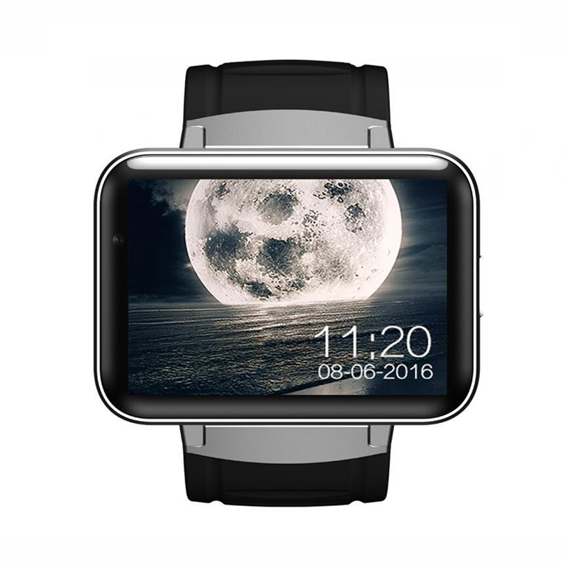 DM98 Smart watch MTK6572 Dual core 2.2 inch HD IPS LED Screen 900mAh Battery 512MB Ram 4GB Rom Android 4.4 OS 3G WCDMA GPS WIFI android 5 1 smart watch 1 54 inch hd curved screen 4gb