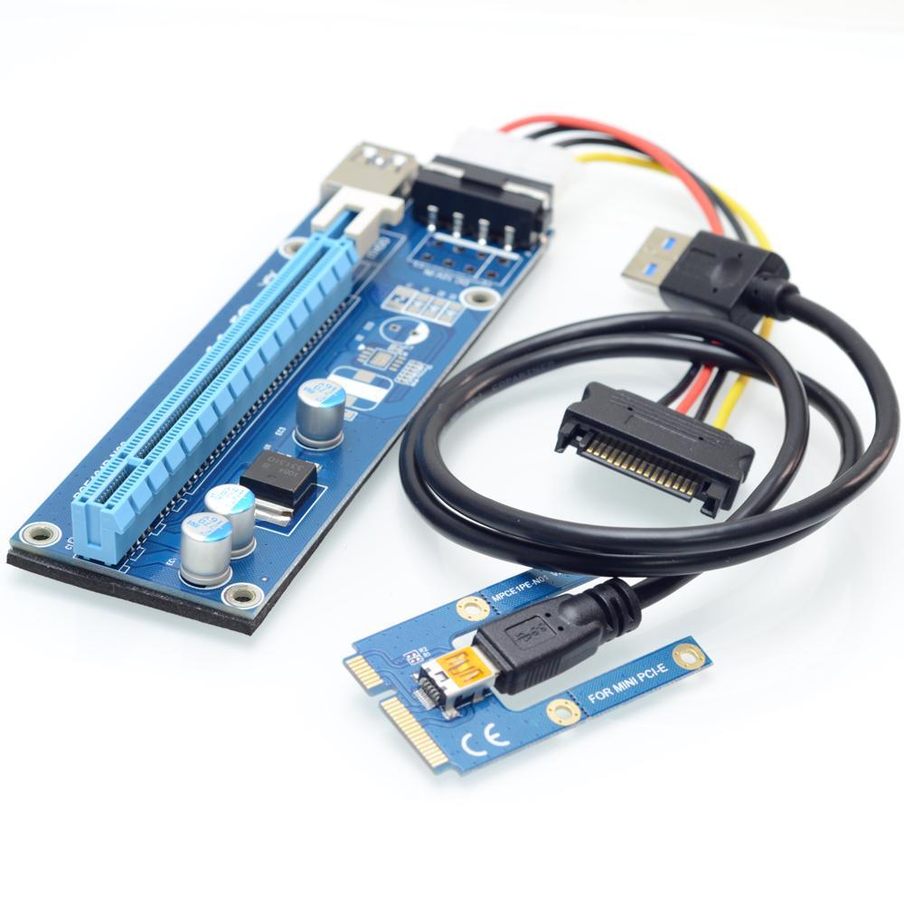 Mini PCIe a PCI Express 16X Riser para ordenador portátil tarjeta de vídeo externo exp GDC minero mpcie a pci-e ranura de expansión tarjeta
