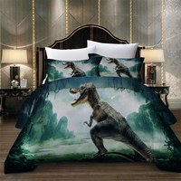 BEST.WENSD High quality New 200X200cm beddengoed Zipper quilt cover Animal Duvet cover+pillow case home Polyester comforter set