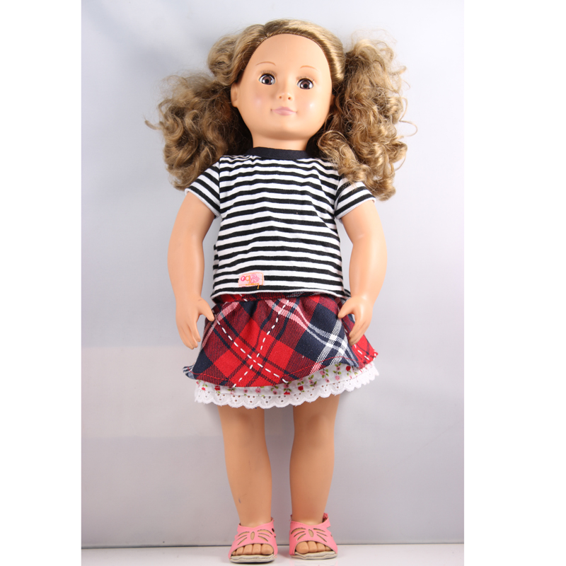 Our Generation Doll 18 inch American Girl Doll With Dress And Shoes DHL UPS FEDEX EMS Express Free Shpping