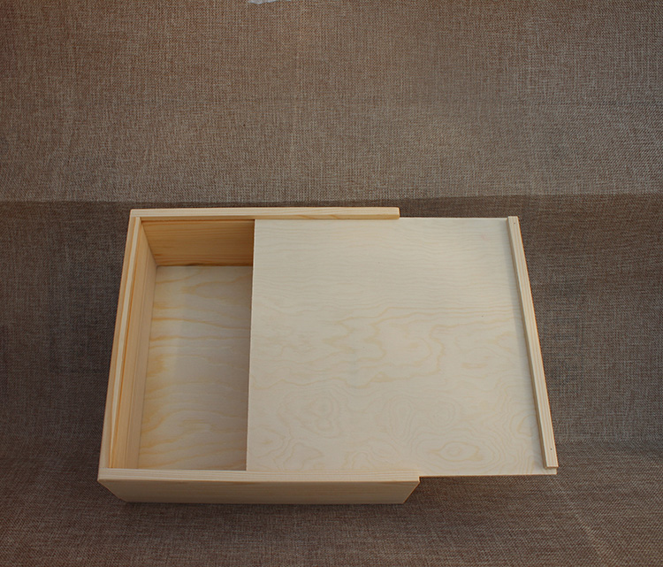 Big Size Wooden Box 25x25x8 5cm With Pulling Sliding Lid