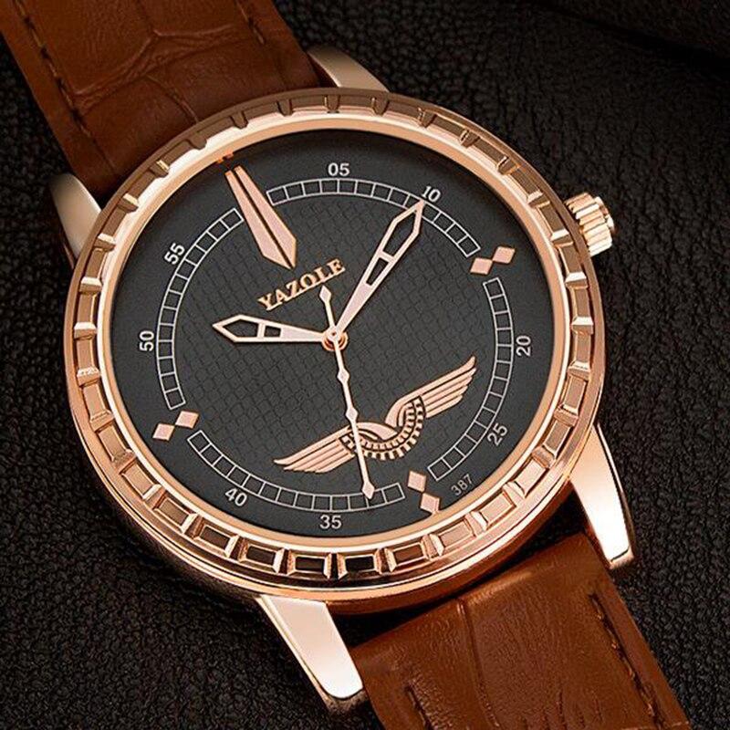 2018 YAZOLE Marke Luxus Herrenuhr Herrenuhr Mode Armbanduhr Beiläufige Geschäfts Uhren Uhr kol saati reloj hombre relogio