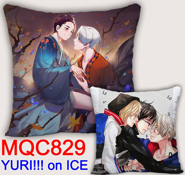 Аниме подушка двусторонняя Юрий на льду 3