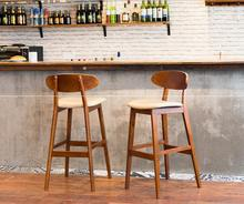Quality Simple Solid wood high bar stools creative Retro tall bar stools