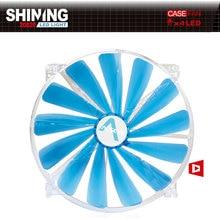 AlSEYE SHINING 200-Blue led fan cooler 200mm fan for computer chassis fan radiator 3 pin 600RPM 200 x 200x 20mm 12v cooling fan