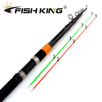 FISH KING Feeder rod C.W 120g Extra Heavy Telescopic Feeder Fishing Rods 3.0m 3.3m 3.6m 3.9m With 2 Rod Tips 60% Carbon Fiber