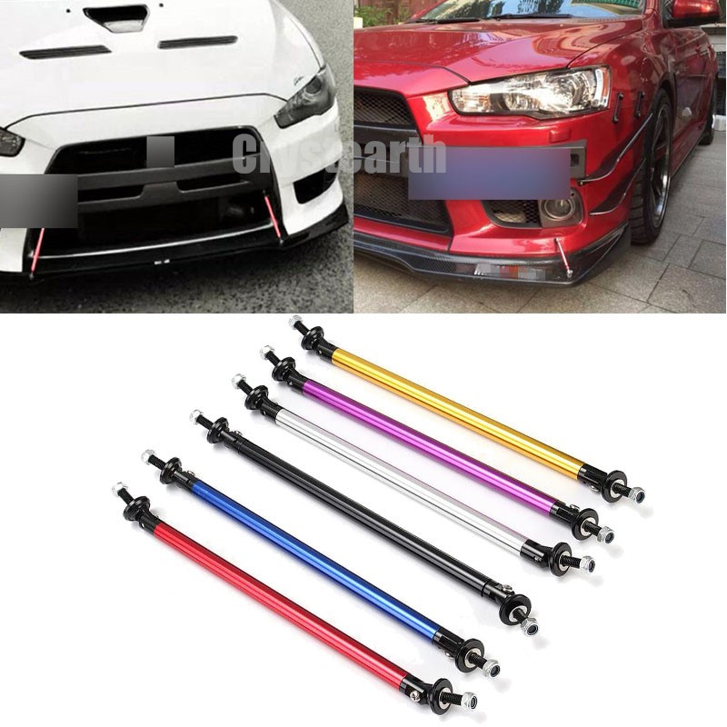 1 Pair Universal Car Auto SUV Adjustable Front Rear Bumper Lip Splitter Spoiler Strut Rod Tie Support Bar 10cm 15cm 20cm