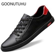 2019 new men's shoes casual leather male flats sneakers lace up white black shoe man platform shoes for men hot sale size 37-45 gpokhds big size 33 45 high quality hot sale 2017 new style women casual black color cut outs lace up oxfords shoes flats shoes