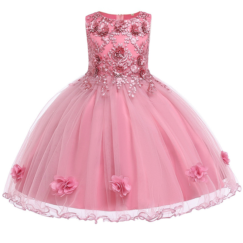 Summer Flower Girl Dresses For Little Girl School Wear Children Wedding Holiday Clothing Kids Party Dresses For Girl 8 10T 10
