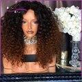 7А Топ Короткие Afro Kinky Вьющиеся Полный Парик Шнурка человеческих волос парик С Ребенком Волос Девы Бразильский Glueless Kinky Вьющиеся Фронта Шнурка парик