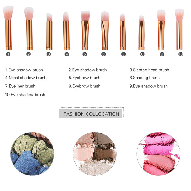 SinSo 4/10Pcs Professional Diamond Makeup Brushes Set Foundation Eyeshadow Contour Lip Powder Cosmetic Makeup Brushes Kit Tools
