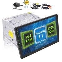 EinCar 10.1 Android 7 Car Autoradio 2 Din Stereo In Dash Head Unit Octa Core GPS Sat Nav Support WiFi Bluetooth RDS SD USB OBD2