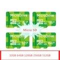 Verde 256gbg 512 gb cartões de memória de 128 gb cartão micro sd 64 gb classe 10 cartão microsd tf cartão de memória flash pendrive hot