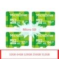 Verde 256gbg 512 gb tarjetas de memoria de 128 gb tarjeta sd micro 64 gb clase 10 tarjeta microsd tf tarjeta de memoria flash pendrive caliente