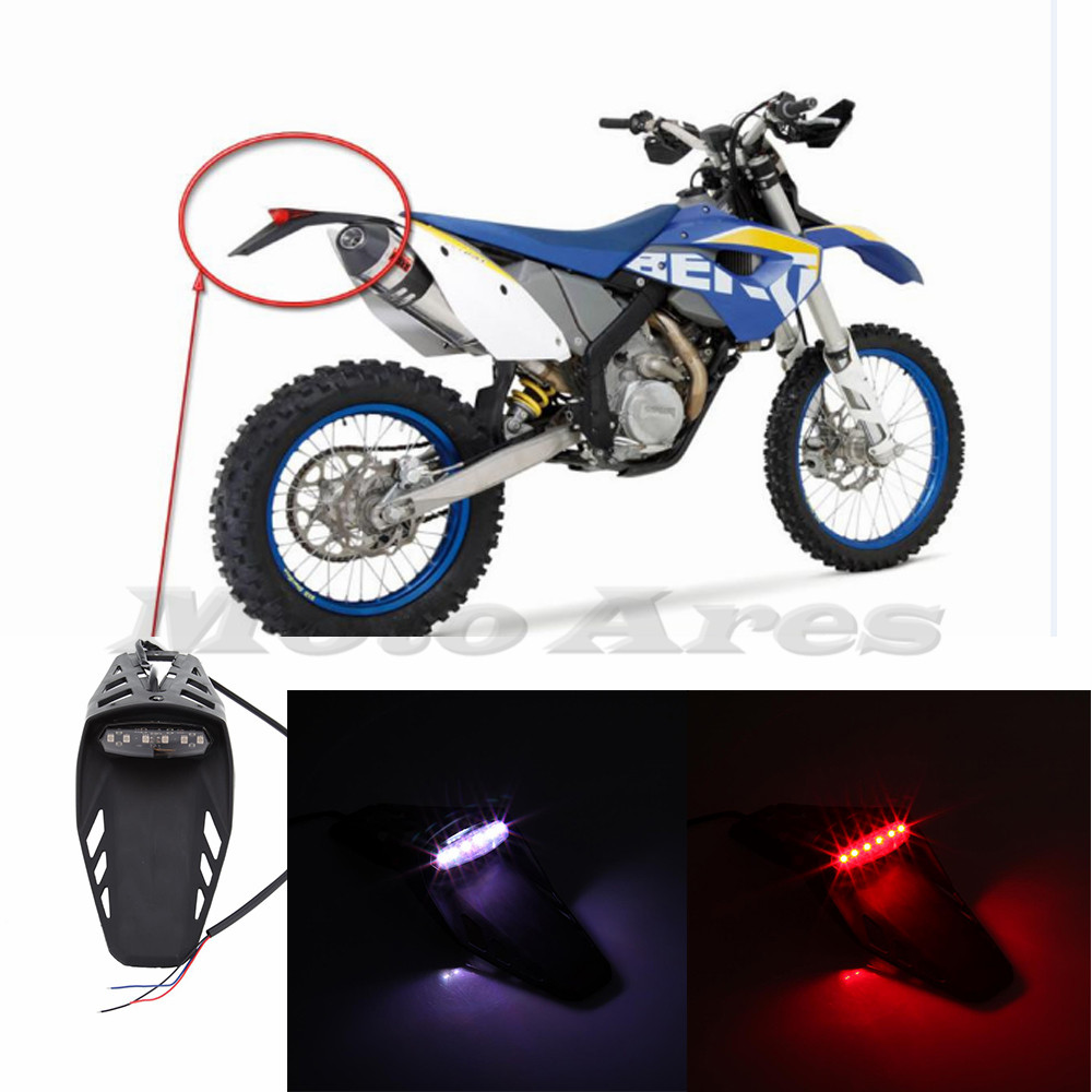 lente portativo moto de enduro trailbikes led licencia trasero luz trasera para honda xr