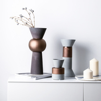 Home Ceramic Vase Nordic Style House Decoration Flower Arrangement Desktop Decoration Matte Matte Design