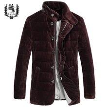 2016 Новый Зимний Бархат Тонкий Мужские Xl 90% Тонкий Белый Стеганые Пальто Куртки Y36 Мужчины