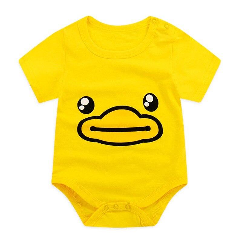 2018 Newborn Romper Summer Short Sleeve Baby Dress Baby Cute Cartoon Baby Boys And Girls Clothes